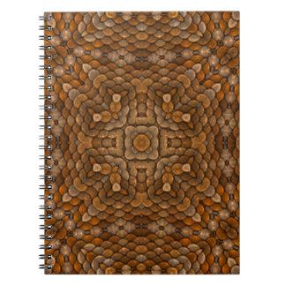 Caderno rústico do caleidoscópio do vintage das