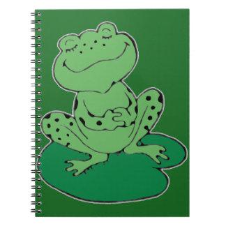 Caderno Sapo em Lilypad
