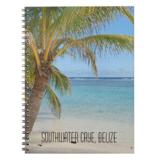 Caderno Seascape tropical do mar das caraíbas da praia de