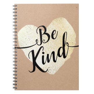 Caderno Seja caligrafia amável do roteiro do coração do
