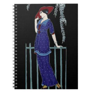 Caderno Senhora elegante do 1920 da forma de Paris