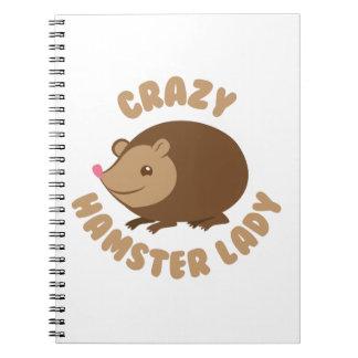 Caderno senhora louca do hamster