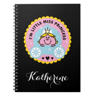 Caderno Senhorita pequena princesa | eu sou uma princesa