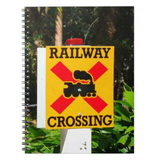 Caderno Sinal do cruzamento Railway