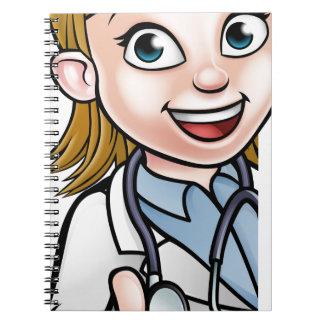Caderno Sinal do personagem de desenho animado do doutor