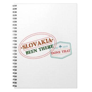 Caderno Slovakia feito lá isso
