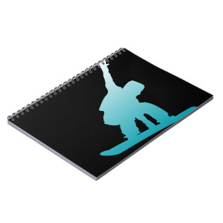 Caderno snowboarder do azul do inclinação