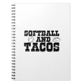 Caderno Softball e engraçado afligido engraçado do Tacos