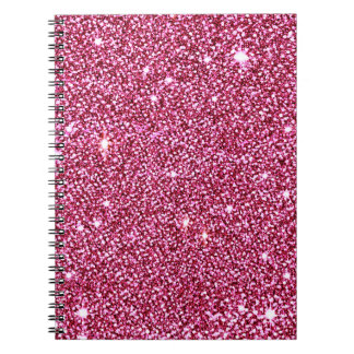 Caderno Sparkly do brilho do rosa quente