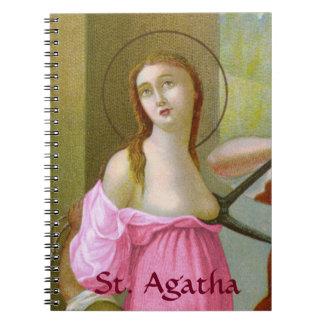 Caderno St. cor-de-rosa Agatha (M 003)