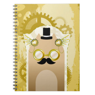Caderno Steampunk+Caderno do gato (80 páginas B&W)