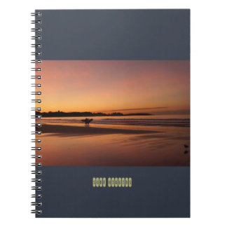 Caderno surfando da praia de Higgins
