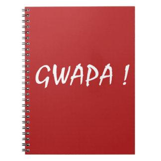 Caderno Tagalog vermelho do filipino do cebuano do design