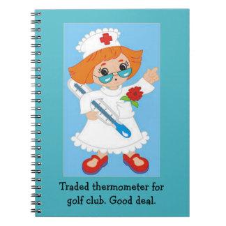 Caderno Termômetro trocado para o clube de golfe - bom
