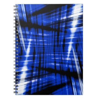 Caderno Teste padrão azul escuro das raias