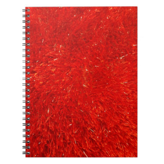 Caderno Teste padrão brilhante chique festivo da cor