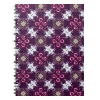 Caderno Teste padrão de flor abstrato cor-de-rosa