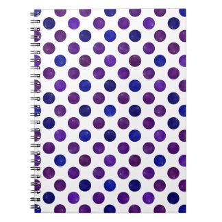 Caderno Teste padrão de pontos bonito XV