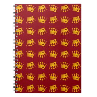 Caderno Teste padrão dobro da coroa