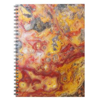 Caderno Teste padrão louco da ágata do laço