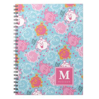 Caderno Testes padrões cor-de-rosa da senhorita princesa |