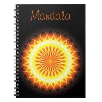 Caderno Texto do modelo da mandala | dos alargamentos
