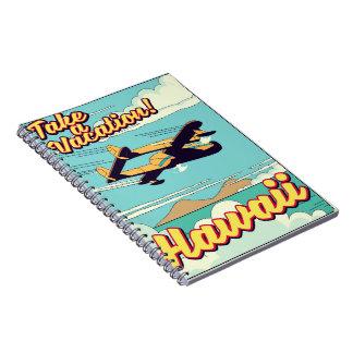 Caderno Tome umas férias! Desenhos animados do viagem de