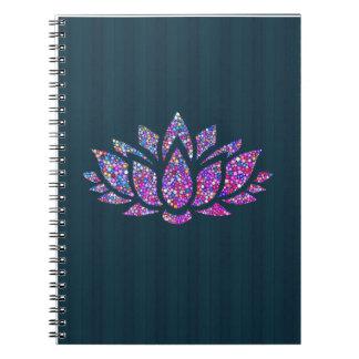 Caderno tranquilo da flor de Lotus da cerceta & do