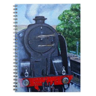 Caderno Trem do vapor na estação