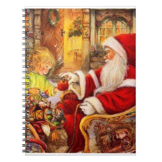 Caderno Trenó do papai noel - ilustração de Papai Noel