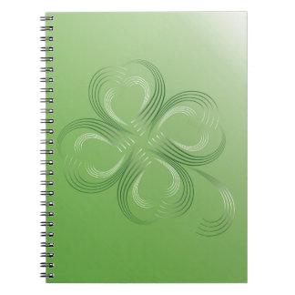 Caderno Trevo de quatro folhas