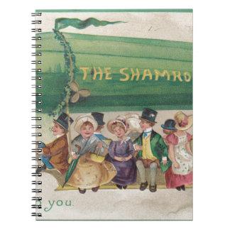 Caderno Trevo original do vintage do dia de Patrick de