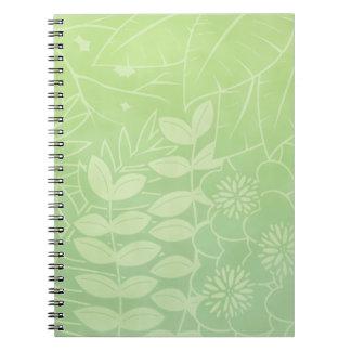Caderno tropical Chá-Verde da folha
