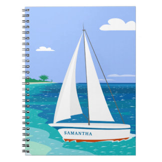 Caderno tropical litoral do veleiro do monograma