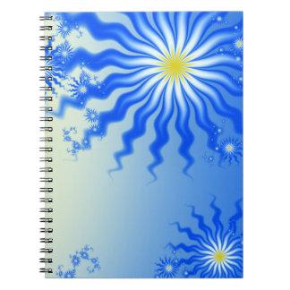 Caderno tropical ondulado de Sun