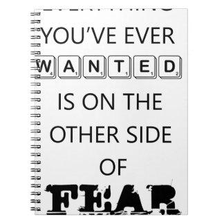Caderno tudo que você quis nunca está   no outro si