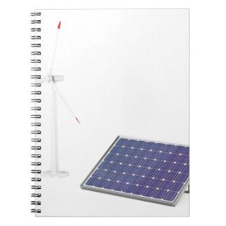 Caderno Turbina eólica e painel solar