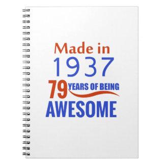 Caderno um design de 79 aniversários