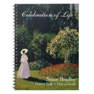 Caderno Uma mulher no jardim pelo livro de hóspedes do