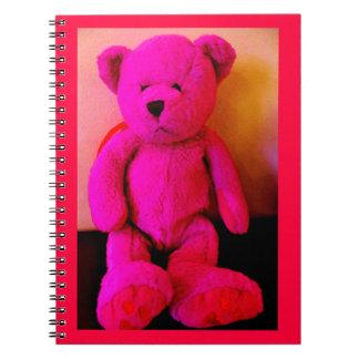Caderno Urso de ursinho cor-de-rosa