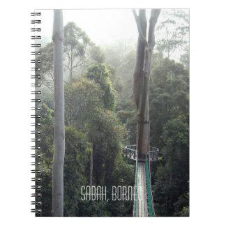 Caderno Vale Sabah Bornéu de Danum do dossel da copa de