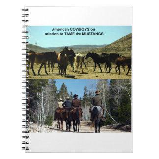 Caderno Vaqueiros americanos na viagem aos cavalos do