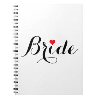 Caderno vermelho do coração da noiva