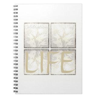 Caderno Vida fúnebre moderna elegante da celebração do