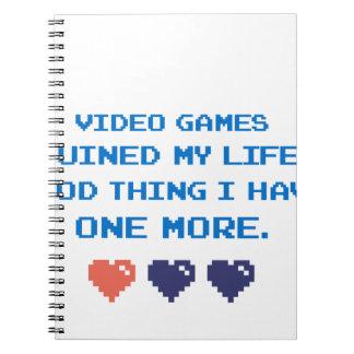 CADERNO VIDEO GAMES
