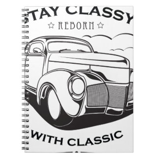 Caderno Vintage retro do carro clássico