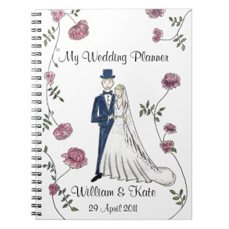 Caderno Wedding personalizado do planejador