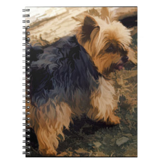 Caderno Yorkie pequeno bonito   - cão do yorkshire terrier