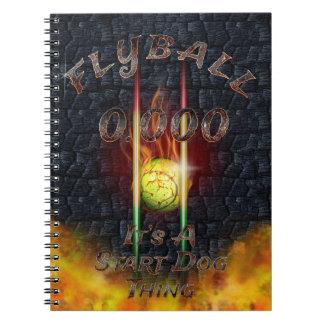 Cadernos 0,000 Flyball Flamz: É uma coisa do cão do começo!