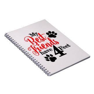 Cadernos 4 pés de melhores amigos